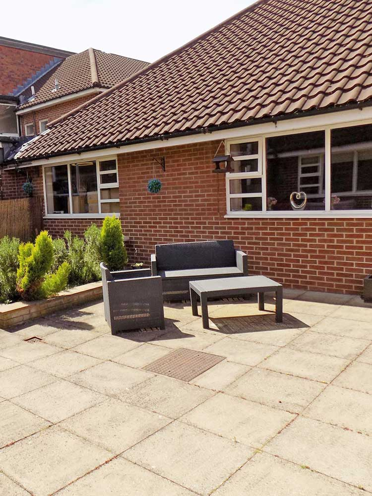 Trentham House Care Home Outdoor Seating Area