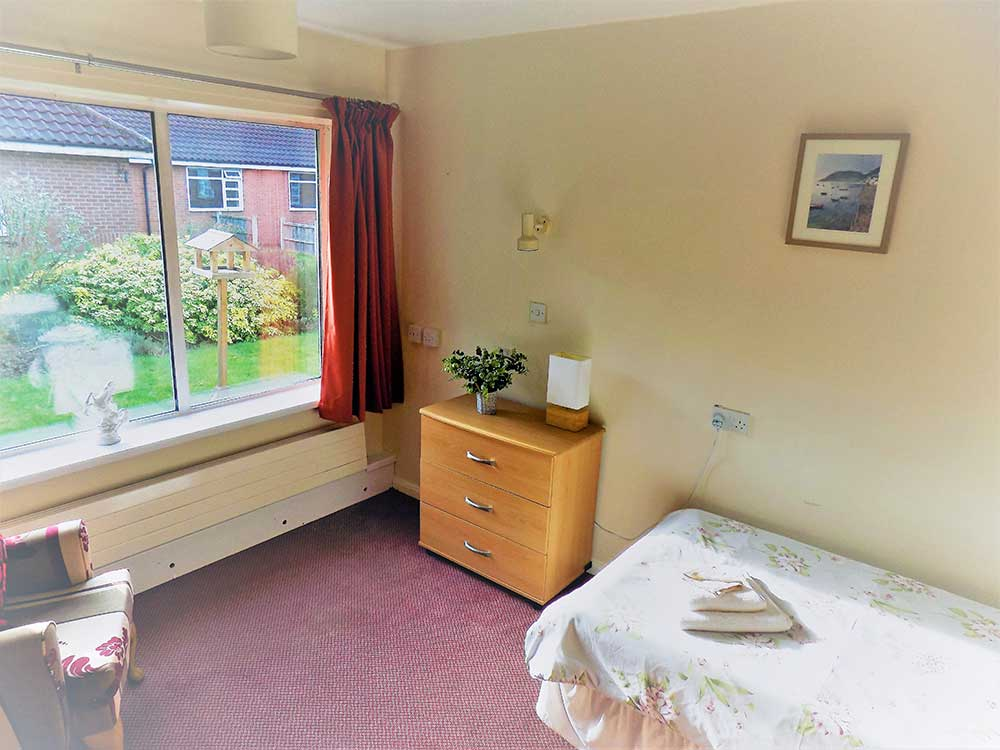 Trentham House Care Home Bedroom